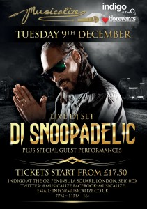 Musicalize At Indigo2 9th December