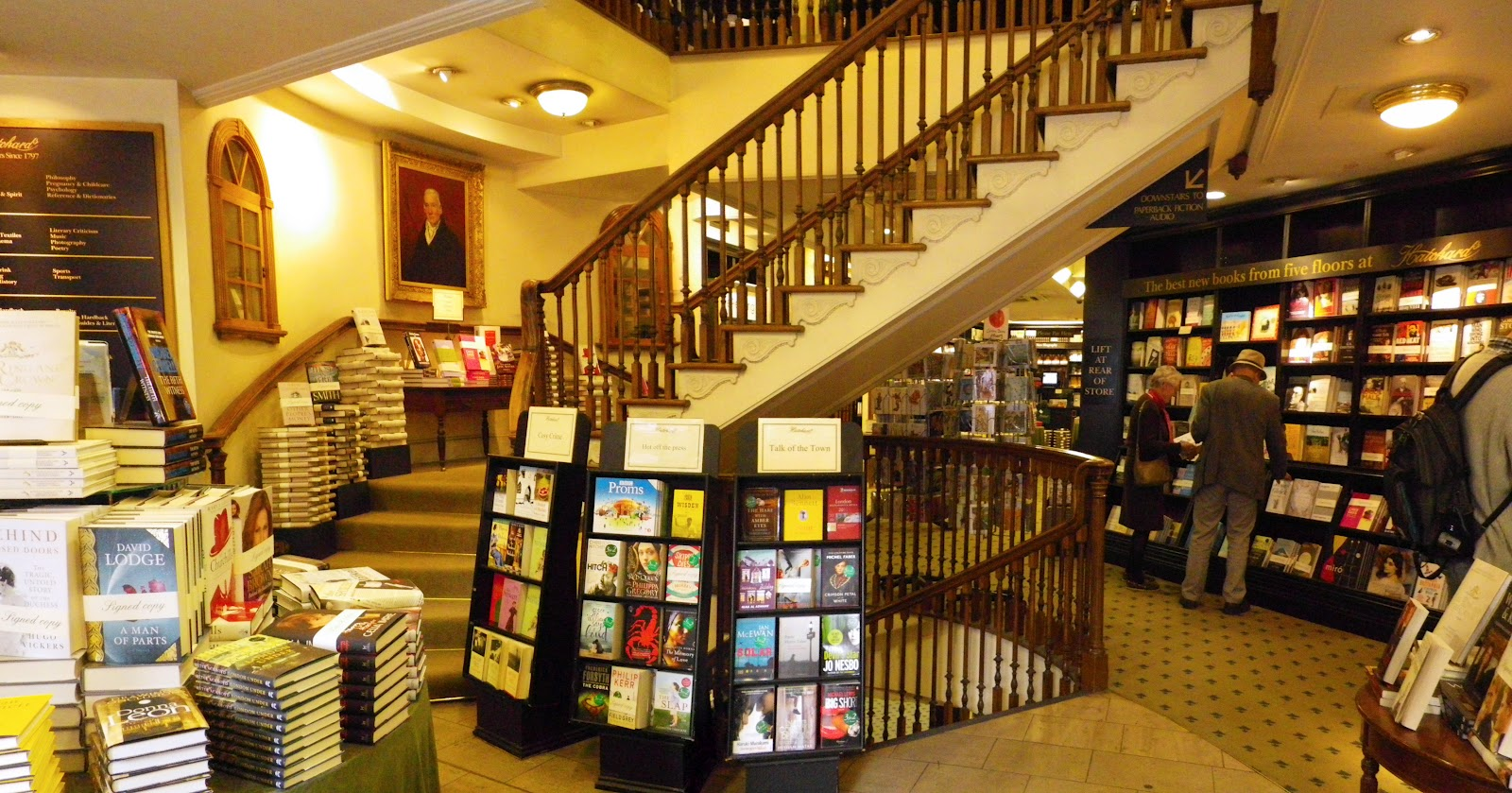 Travelling through literary history at Hatchards - Verge ...