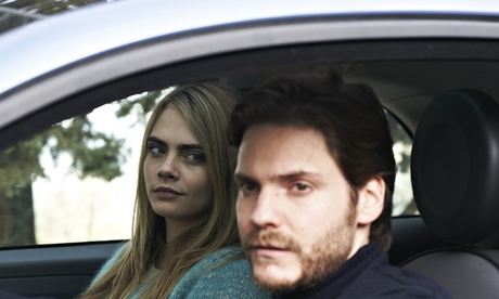 Daniel Brühl and Cara Delevingne in The Face of an Angel