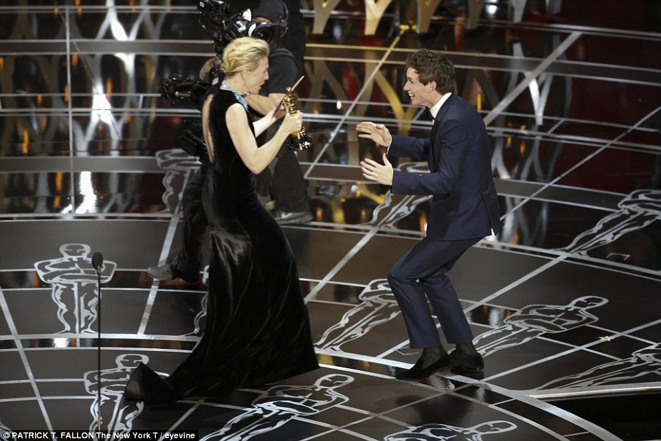 Eddie Redmayne - Bowler Black - Oscars 2015 1