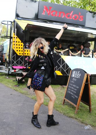 Fergie was snapped backstage by the Nando's Cock o'Van following her mainstage performance at Wireless Festival, Finsbury Park, London