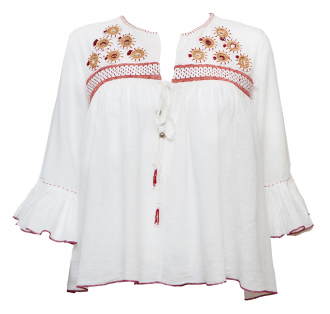 Embroidered Boho-Luxe Cotton Top £90.00 - acchalondon.com