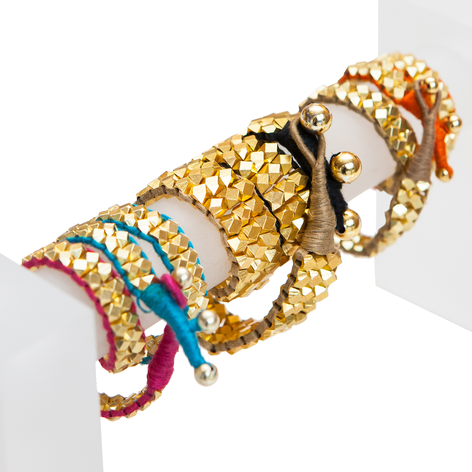 Double Wrap Around Cuffs with Dual Colour Thread Combination £90.00 - acchalondon.com