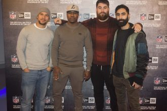 Rudimental arrive at the NFL Party at NFL house prior to the LA Rams v New York Giants match at Twickenham stadium.  Bloomsbury Square, London on Thursday, October 20th. photo: Jed Leicester /NFL