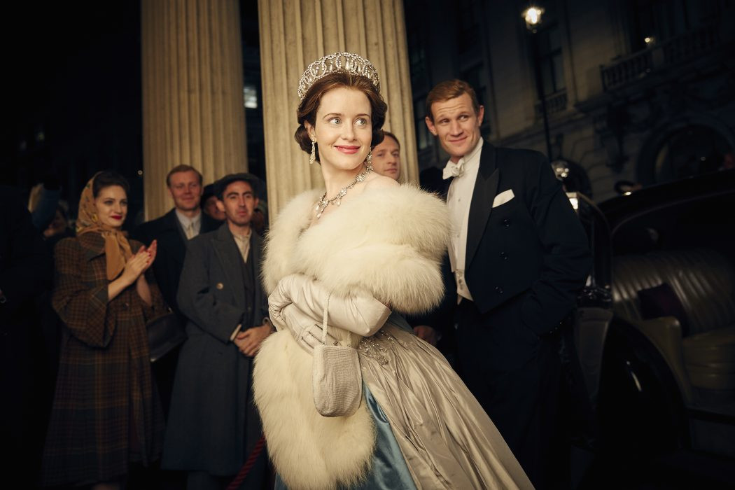 The Crown - Photography: Robert Viglasky/Netflix - Pictured: Claire Foy and Matt Smith