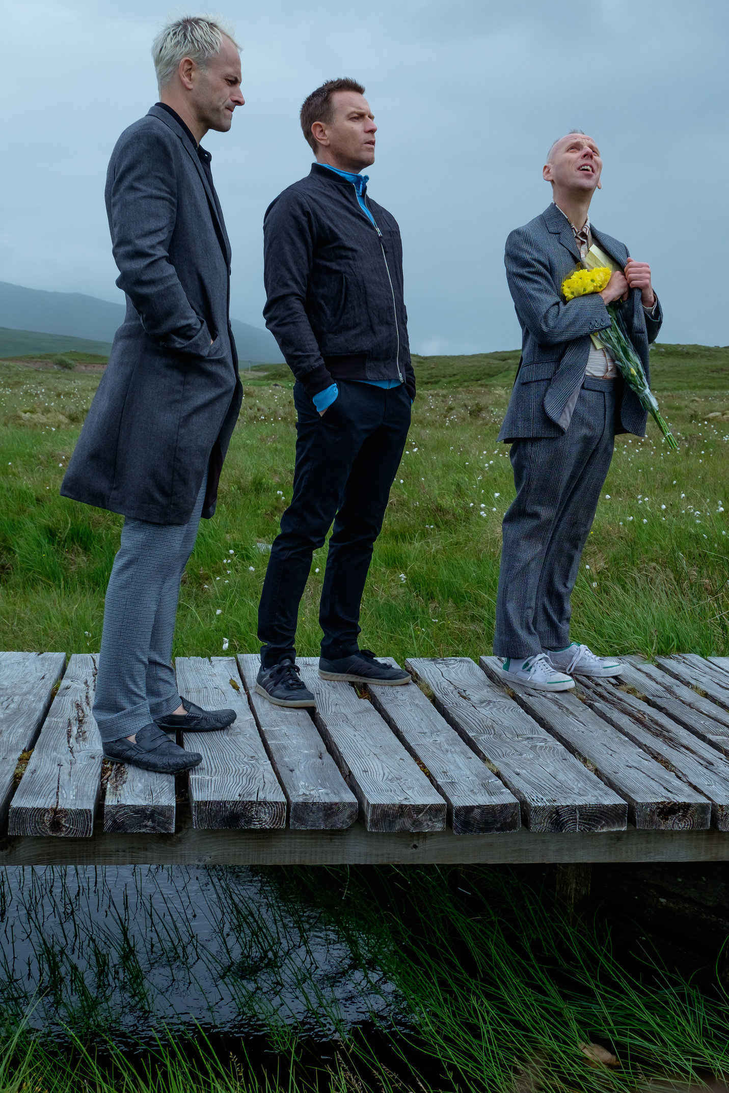 T2-JB-01447.dng <br />Simon (Jonny Lee Miller), Mark Renton (Ewan McGregor) and Spud (Ewen Bremner) in the great outdoors