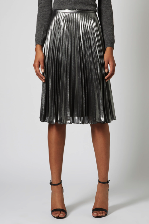 2fa44607b8 ... skirt to bring Christmas in with a bang. Wear it with a knit jumper and  strappy heels à la Topshop or a white t-shirt and leather jacket … à la  Me.