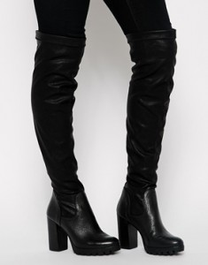 asos carvela grunge over the knee boots