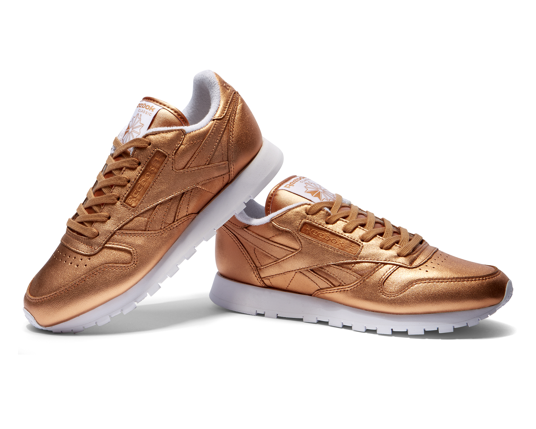 FACE X REEBOK CLASSIC CL LEATHER METALLIC BRONZE 3 Verge