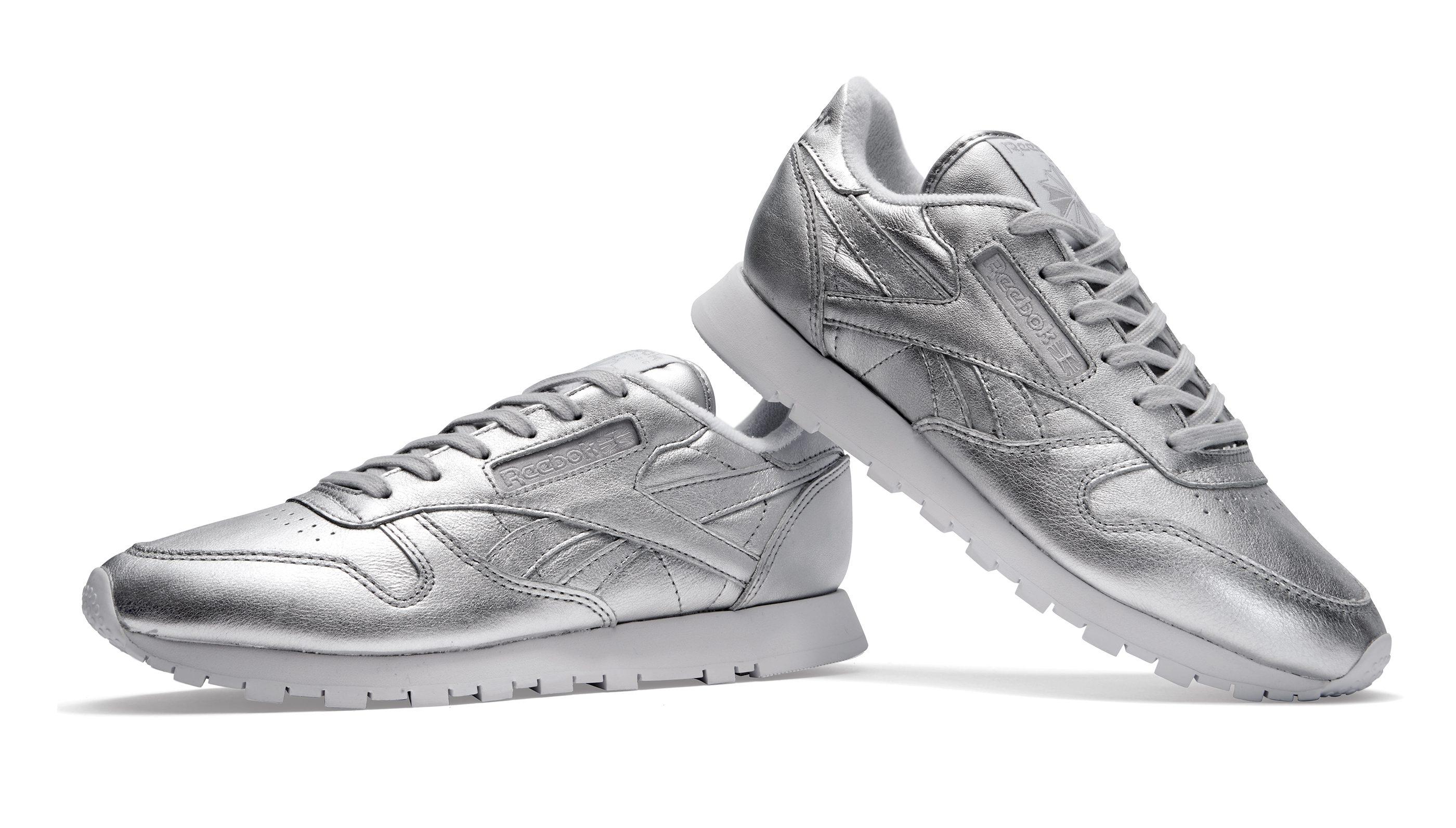 Buy Reebok Classic Cl Lthr Hd Silver