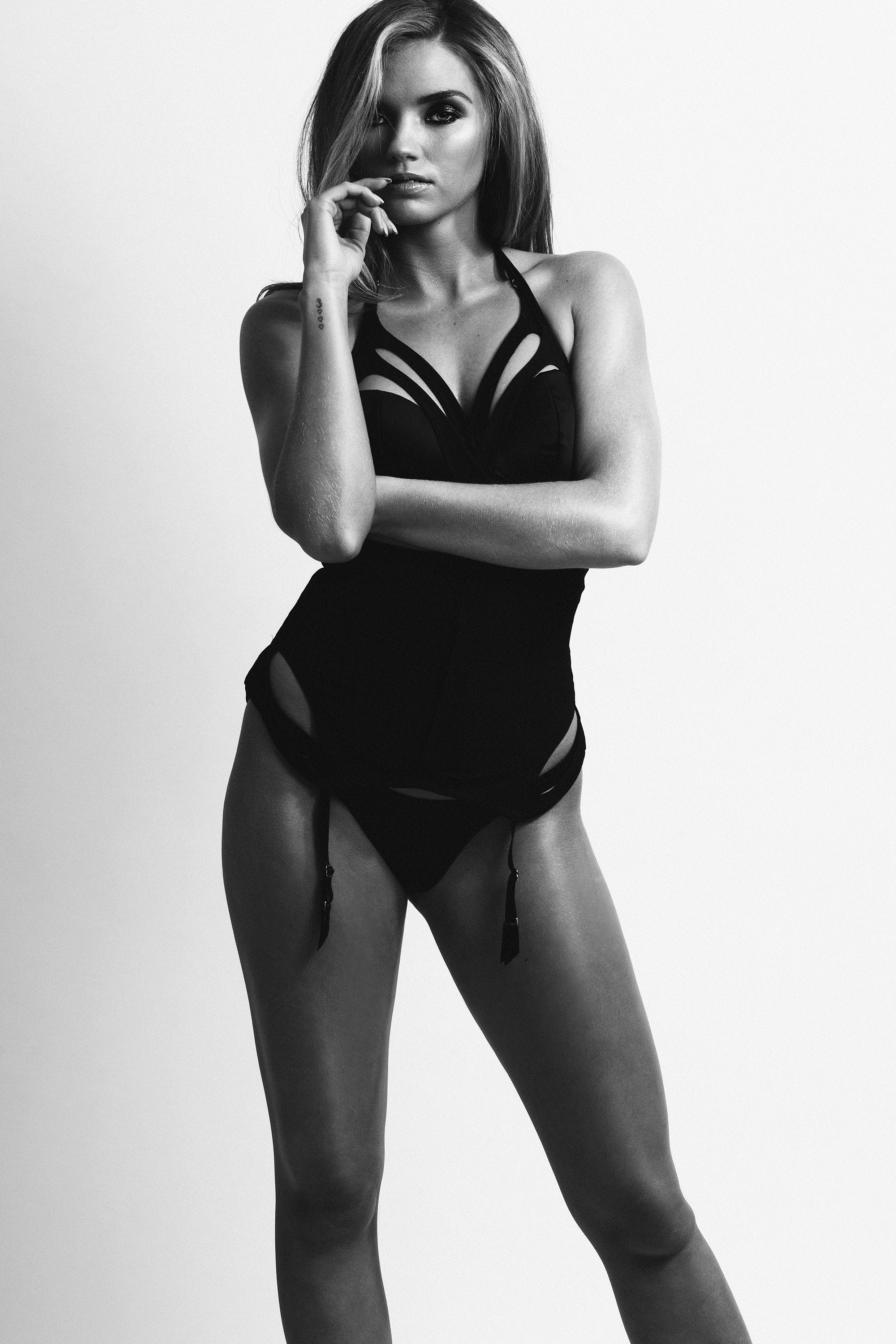 McMahon modeling Lascivious bra, body piece and thong/ lascivious.co.uk - Photo Credit: Jo Emmerson