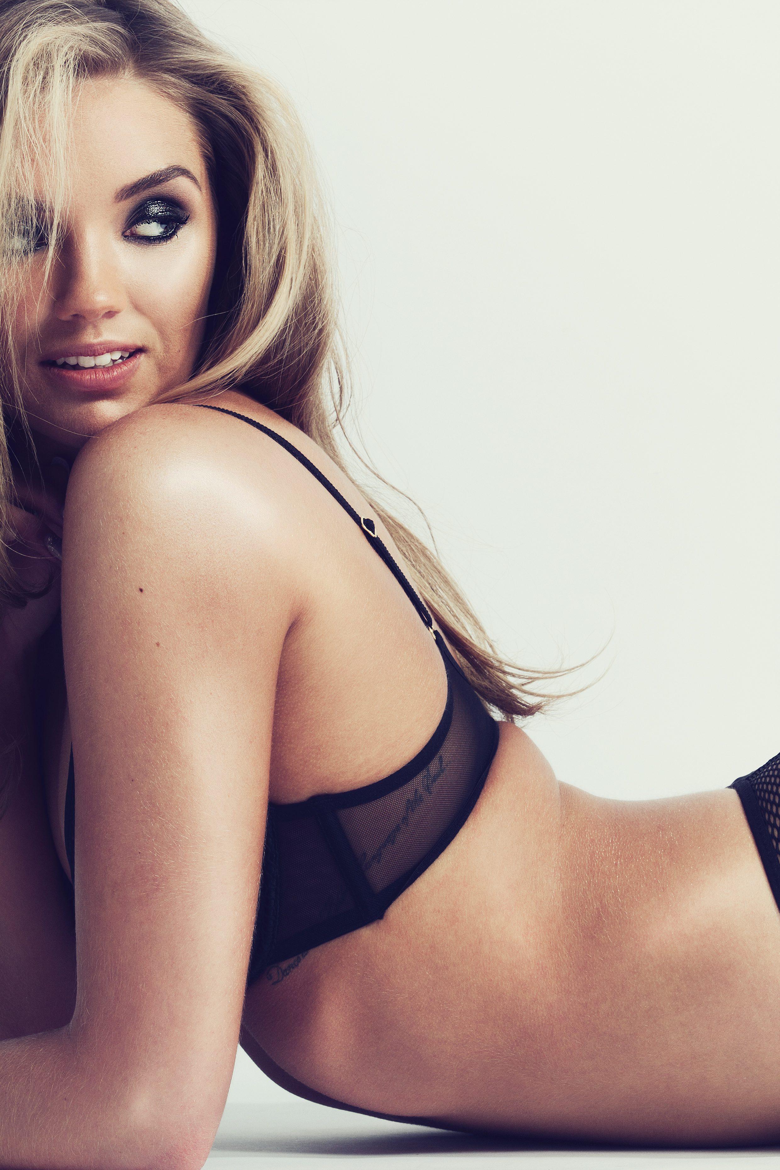 McMahon modeling lingerie set by L'Agent by Agent Provocateur/ lagentbyap.com - Photo Credit: Jo Emmerson