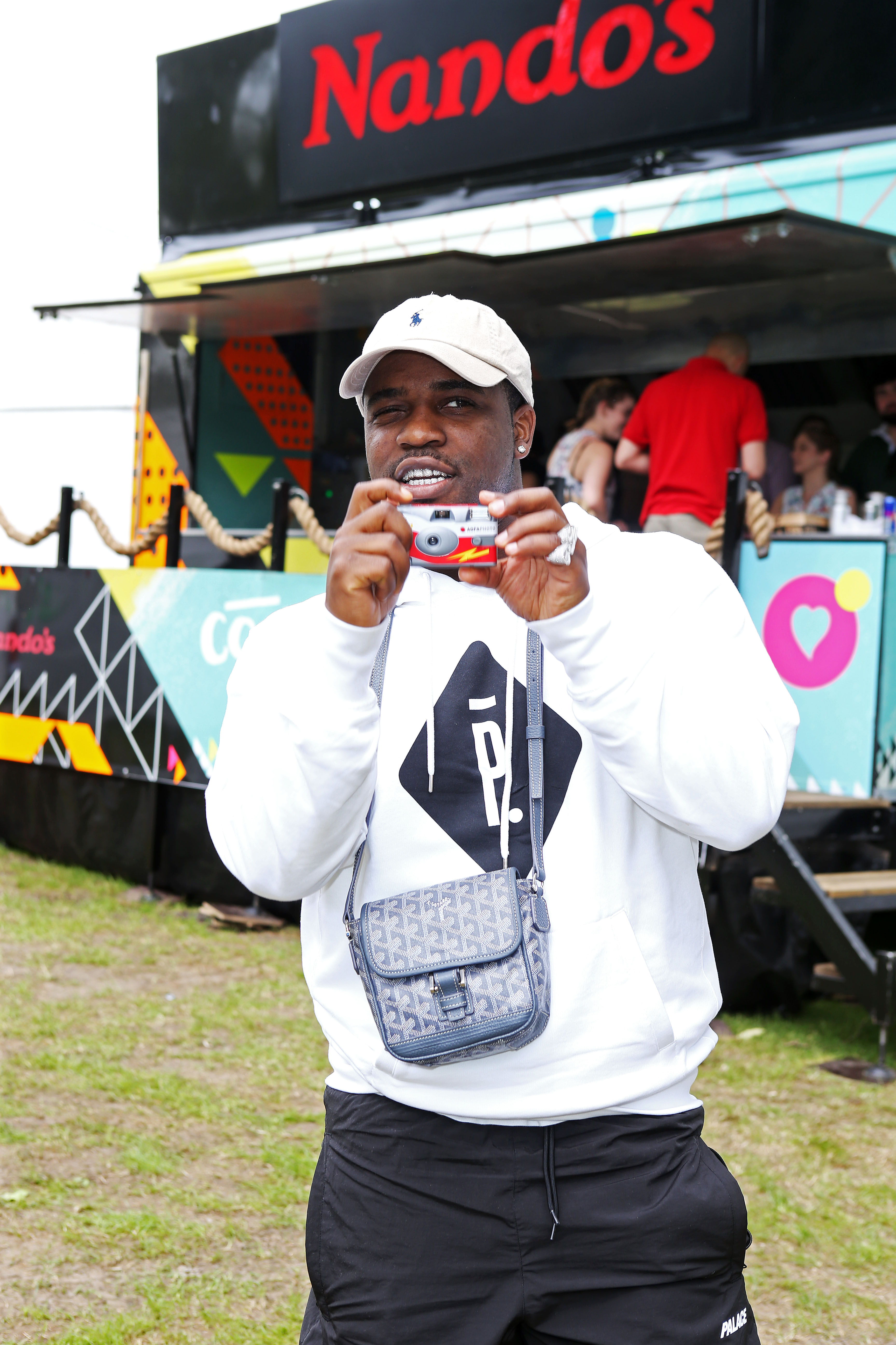 ASAP Ferg dropped by Nando's Cock o' Van before an Extra Hot performance at Wireless festival in Finsbury Park, London.