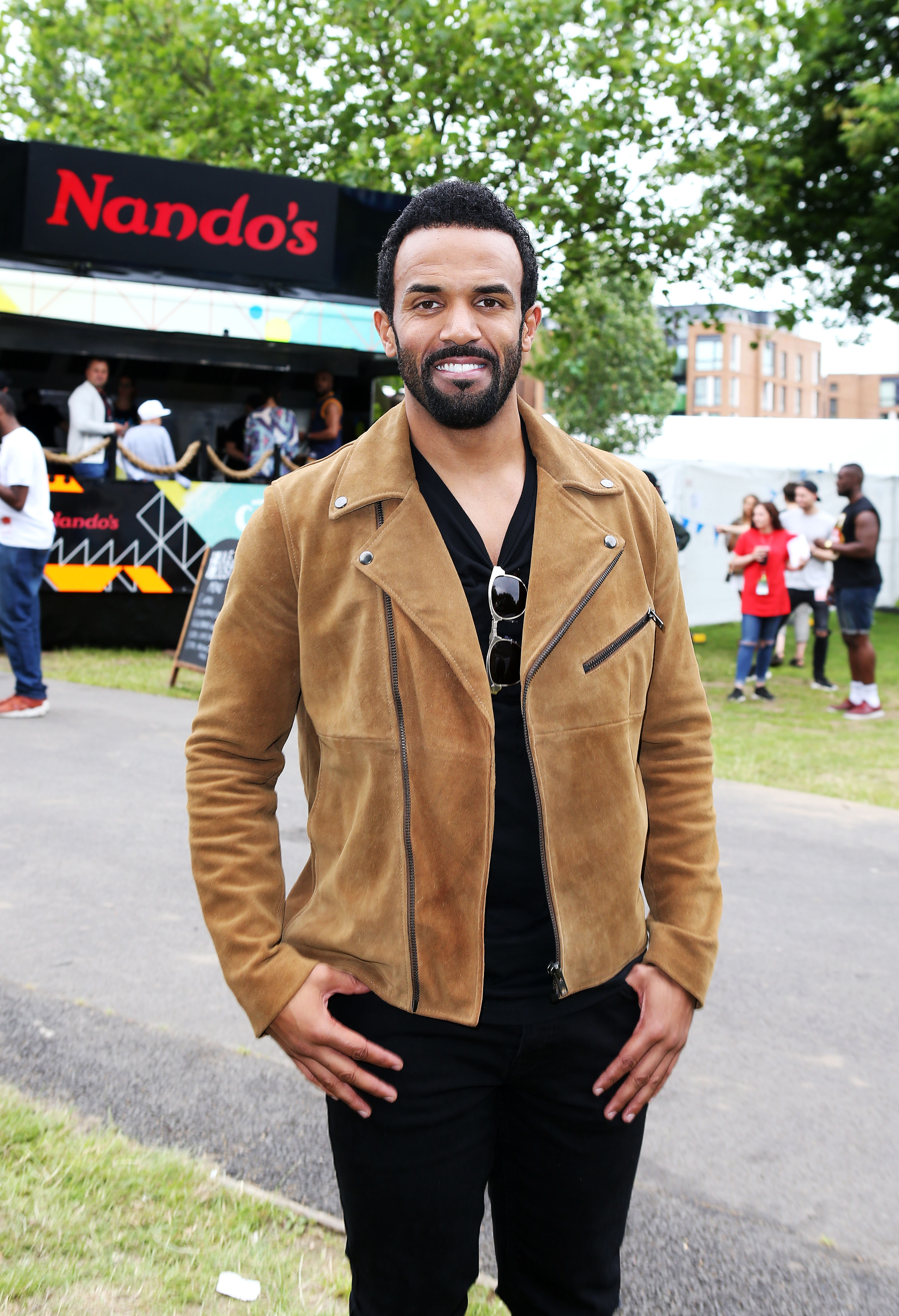 Craig David dropped by Nando's Cock o' Van before his performance at Wireless festival in Finsbury Park, London.