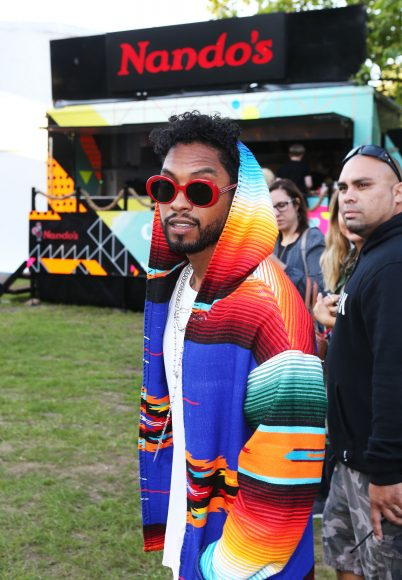 Miguel after an Extra Hot performance at Wireless festival in Finsbury Park, London
