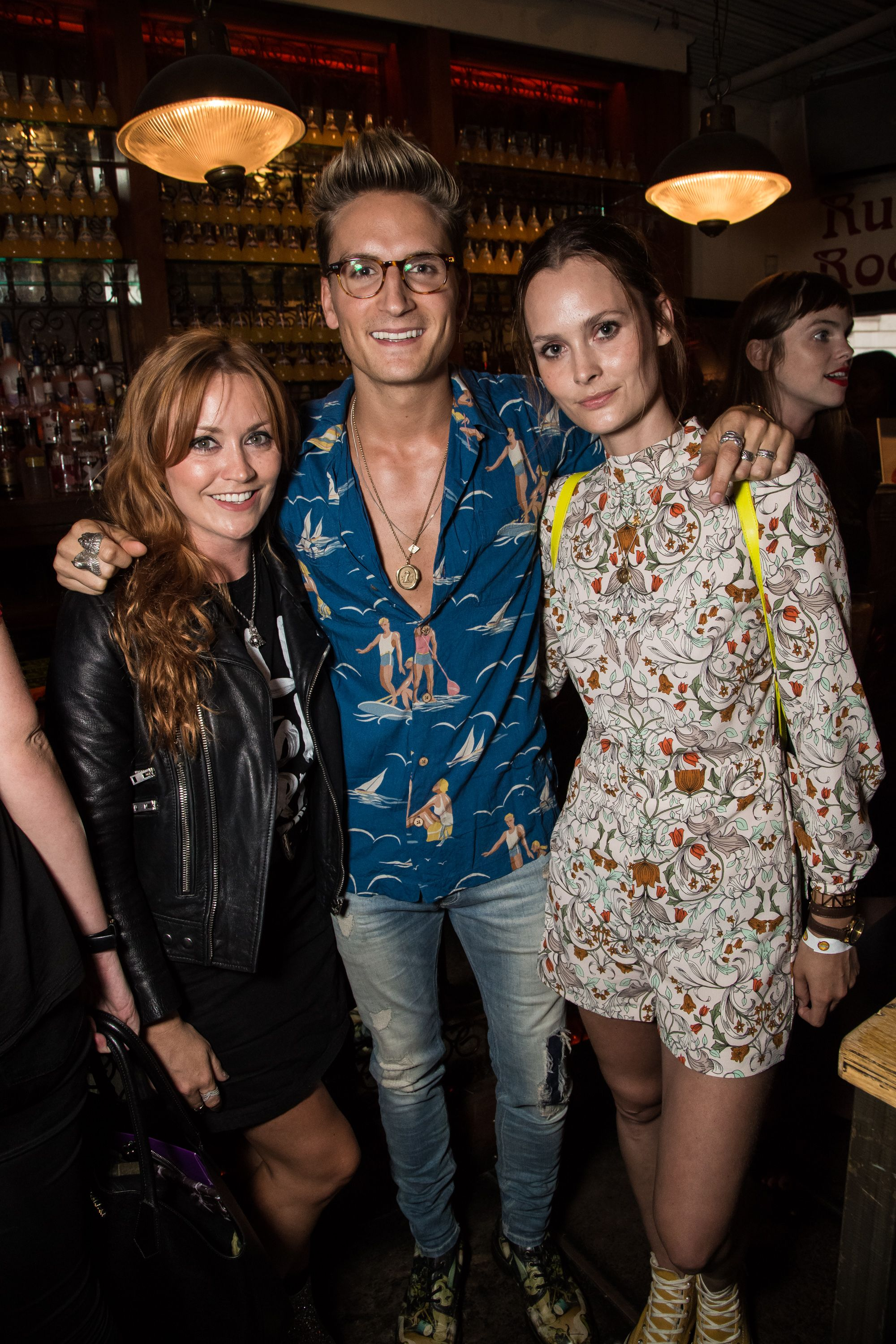 Arielle Free, Oliver Proudlock and Charlotte de Carle Photo by Vianney Le - Orangina #ShakeLaVie party, London, UK - 27 Jul 2016