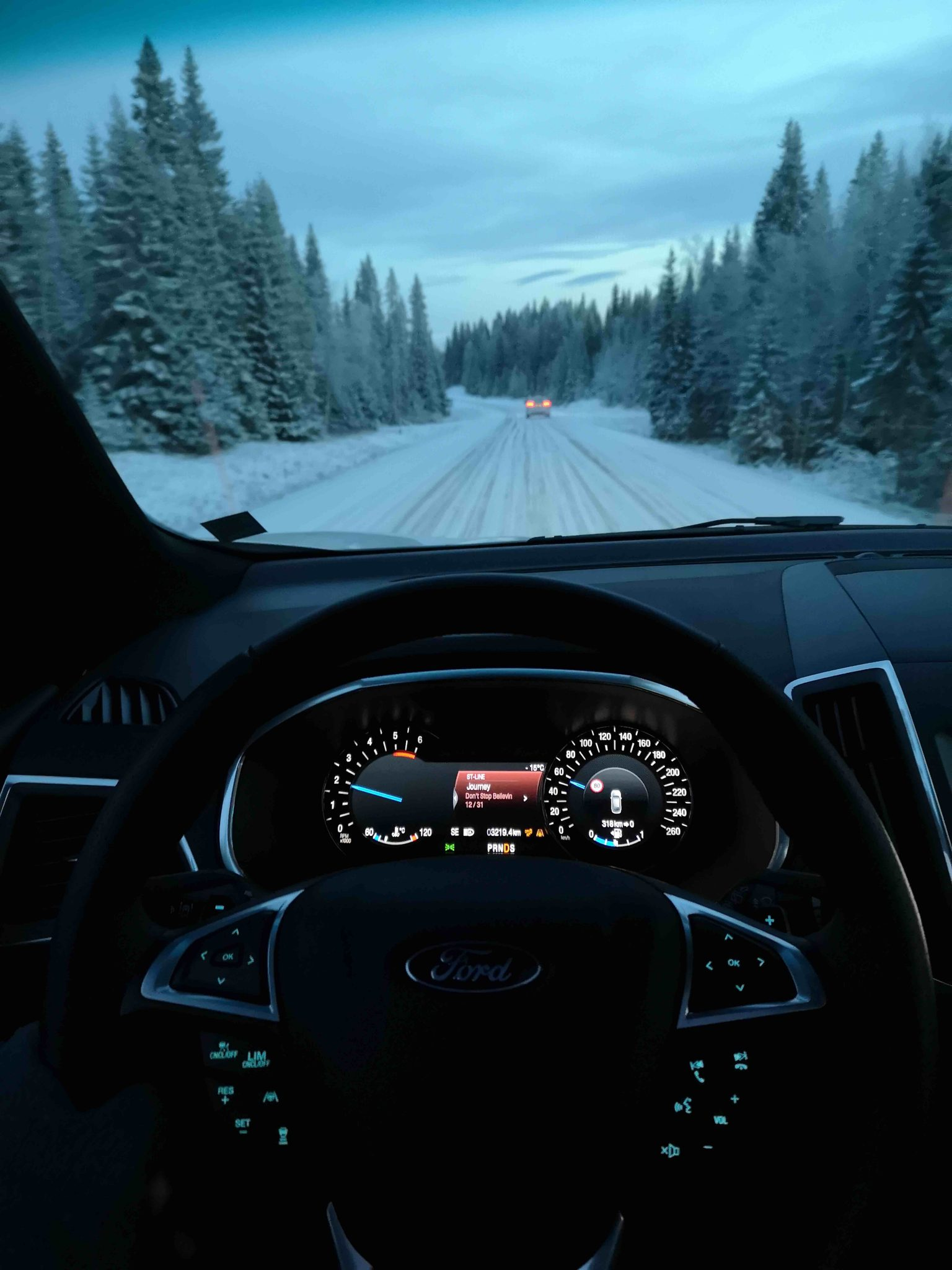 Driving through Are - Sweden