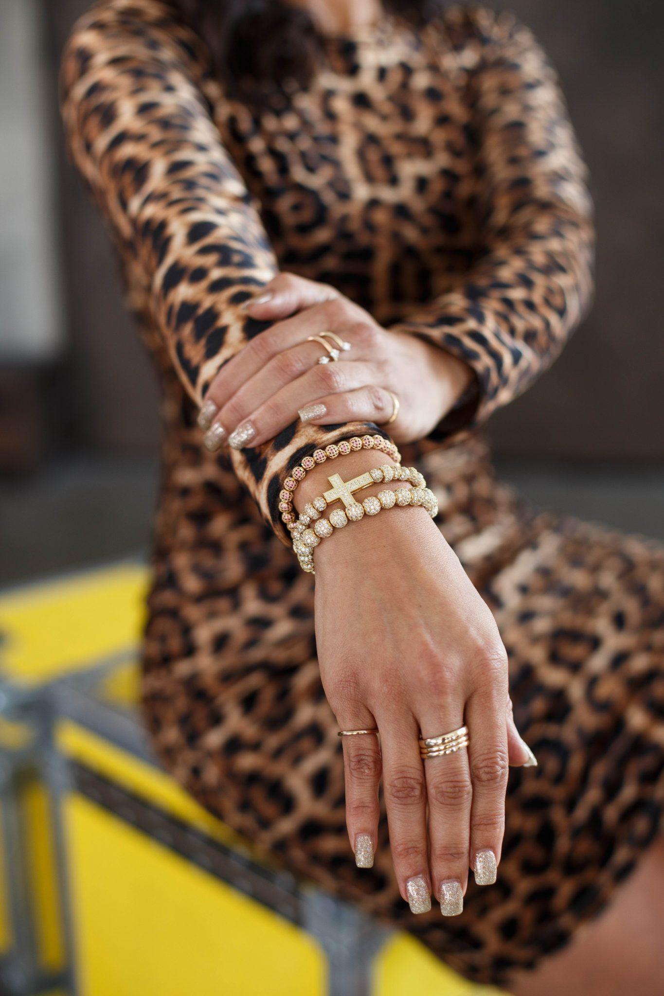Look 3: Interview  Dress: Aqua Heels: Schutz  Earrings & Bracelets: Love and Mercy