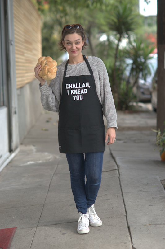 Challah Hub Elina street apron - photo by Jackson Davis