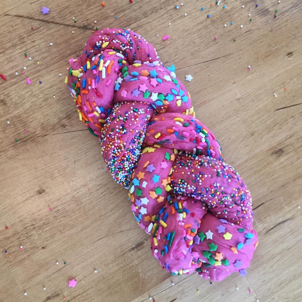 Challah Hub Pink Confetti Braided Loaf