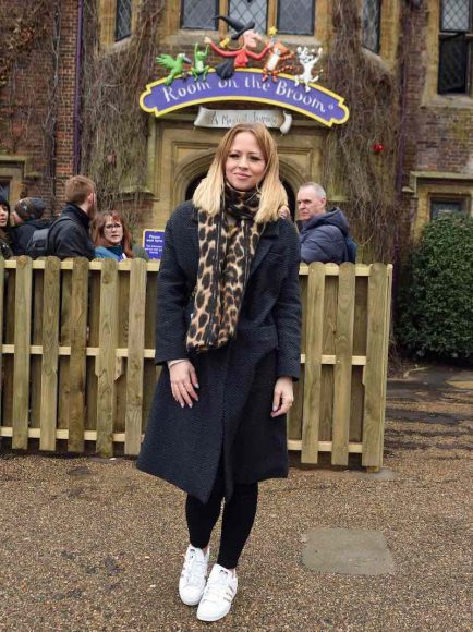 9th March 2019  The launch of Chessington World of Adventures Resort's newestattraction, 'Room on the Broom – A Magical Journey', which opens this weekend.  Here: Kimberly Walsh  Credit Justin Goff/goffphotos.com