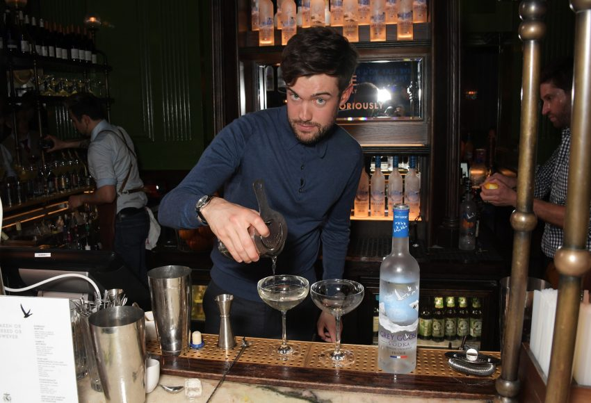 Jack Whitehall mixes cocktails at the launch of the new GREY GOOSE brand platform 'Live Victoriously' with Clara Amfo, turning an average Tuesday night into an unforgettable memory with surprise performances, at The Wigmore, London on April 16, 2019 in London, England.    Pic Credit: Dave Benett