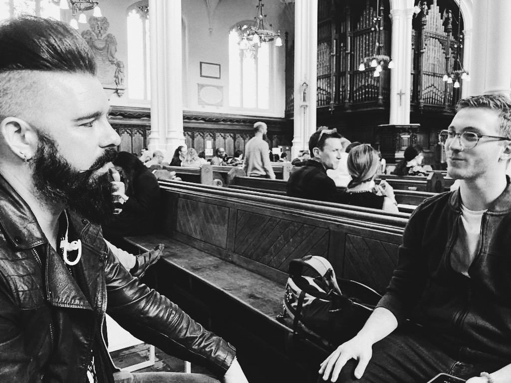 Verge writer Asher Michelson sitting down for an interview with Matt Spracklen.