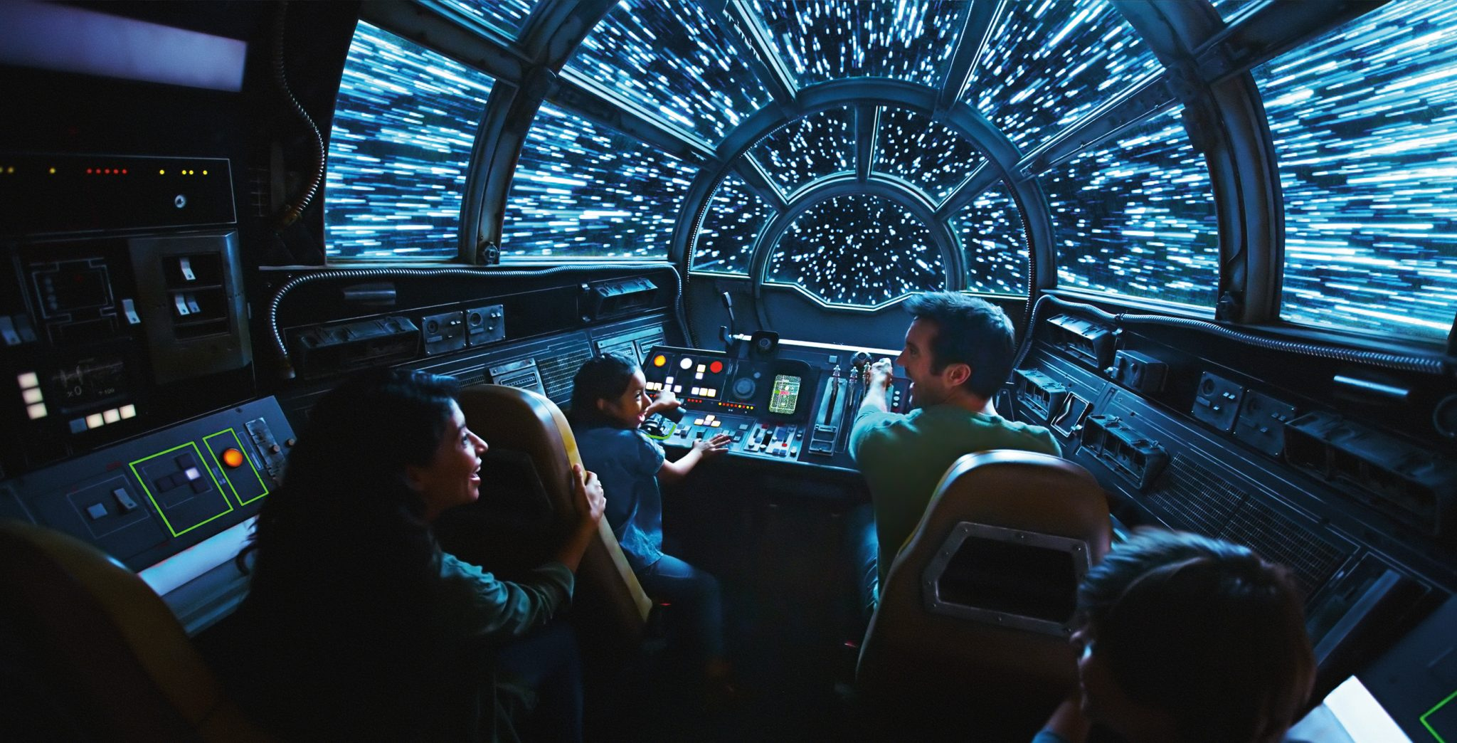 Inside Millennium Falcon: Smugglers Run, Disney guests will take the controls in one of three unique and critical roles aboard the fastest ship in the galaxy when Star Wars: Galaxy's Edge opens in summer 2019 at Disneyland Resort in California, and fall 2019 at Walt Disney World Resort in Florida. (Disney Parks)