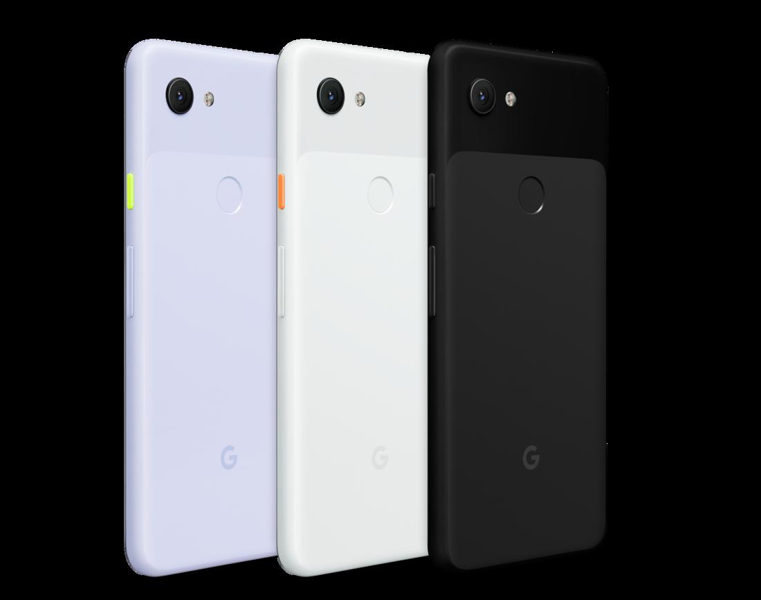 Google Pixel 3a - Black white and purpleish