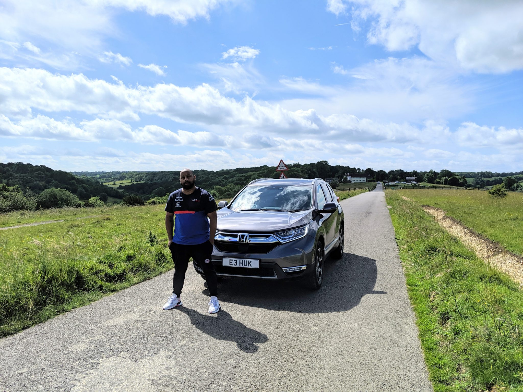 Verge CEO Andre Dixon with the Honda CRV