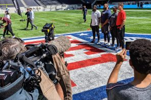 NFL grows in London for native and US fans, media and players alike.