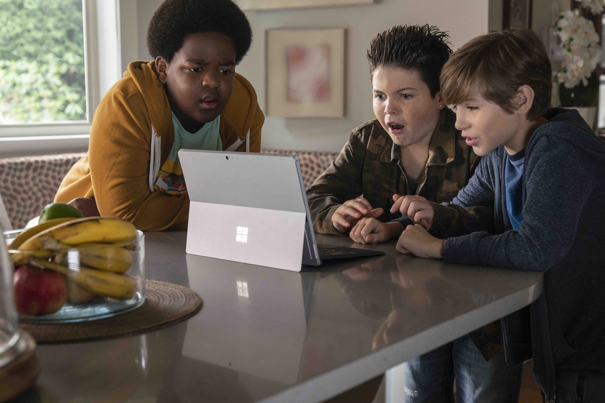 (from left) Lucas (Keith L. Williams), Thor (Brady Noon) and Max (Jacob Tremblay) in Good Boys, written by Lee Eisenberg and Gene Stupnitsky and directed by Stupnitsky.