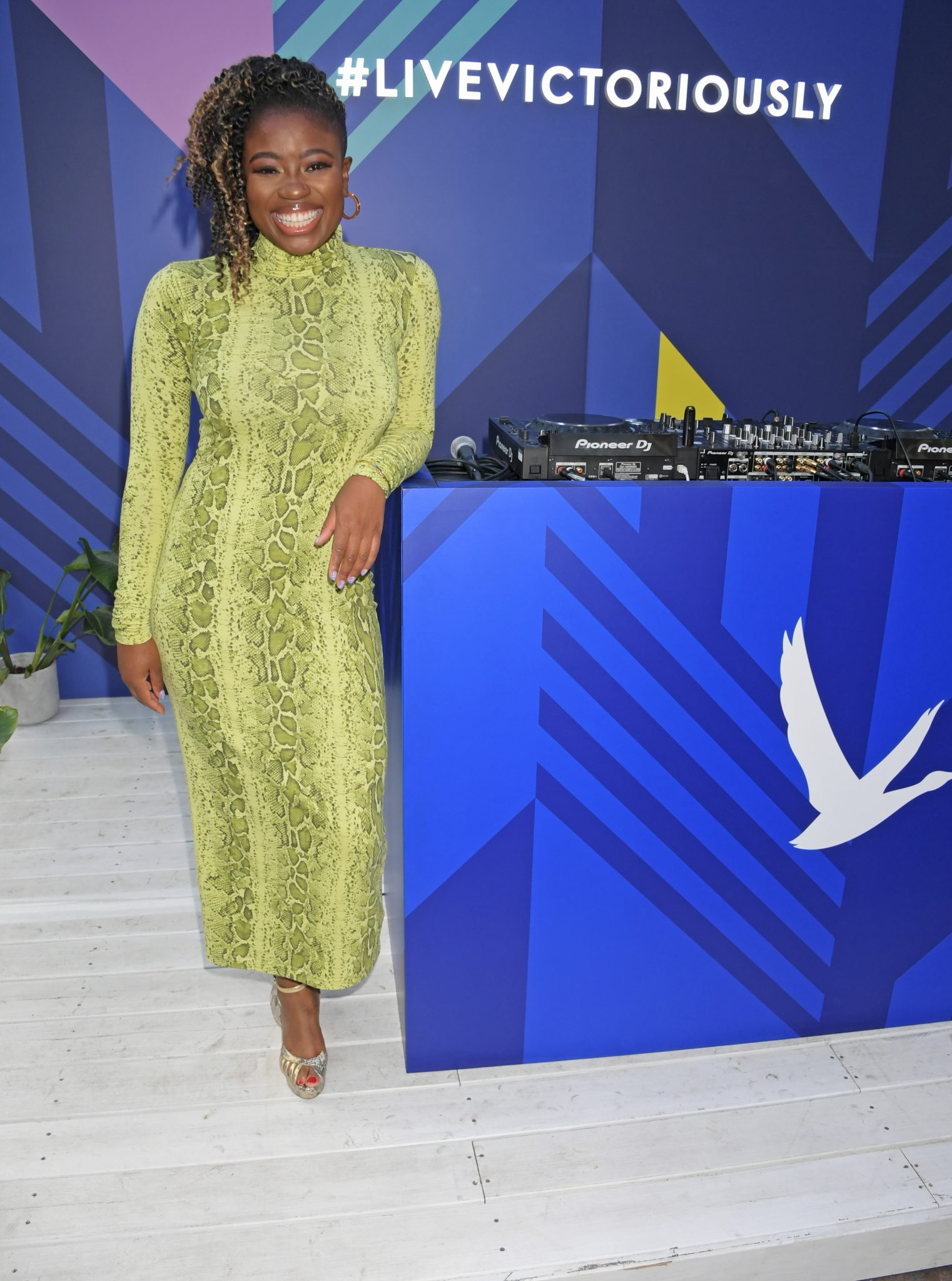 LONDON, ENGLAND - JULY 29:   Clara Amfo performs a surprise DJ set at the launch of the 'Live Like Summer Never Ends' Terrace by GREY GOOSE in Covent Garden's East Piazza on July 29, 2019 in London, United Kingdom.   Pic Credit: Dave Benett