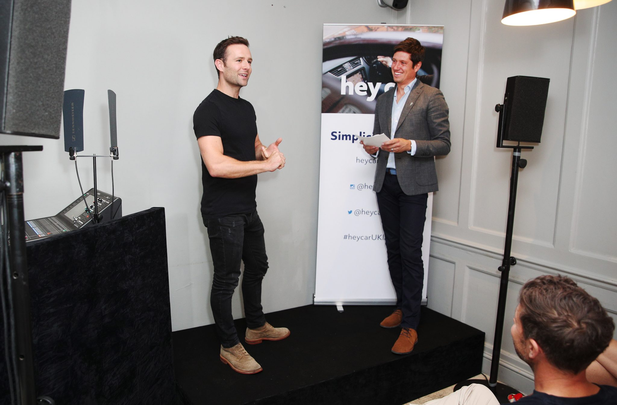 Harry Judd and Vernon Kay appeared today at the launch of heycar, the new online used car marketplace, at the Modern Pantry, Clerkenwell