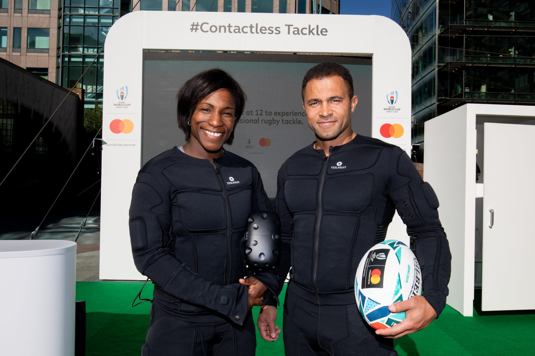 Maggie Alphonsi and Jason Robinson