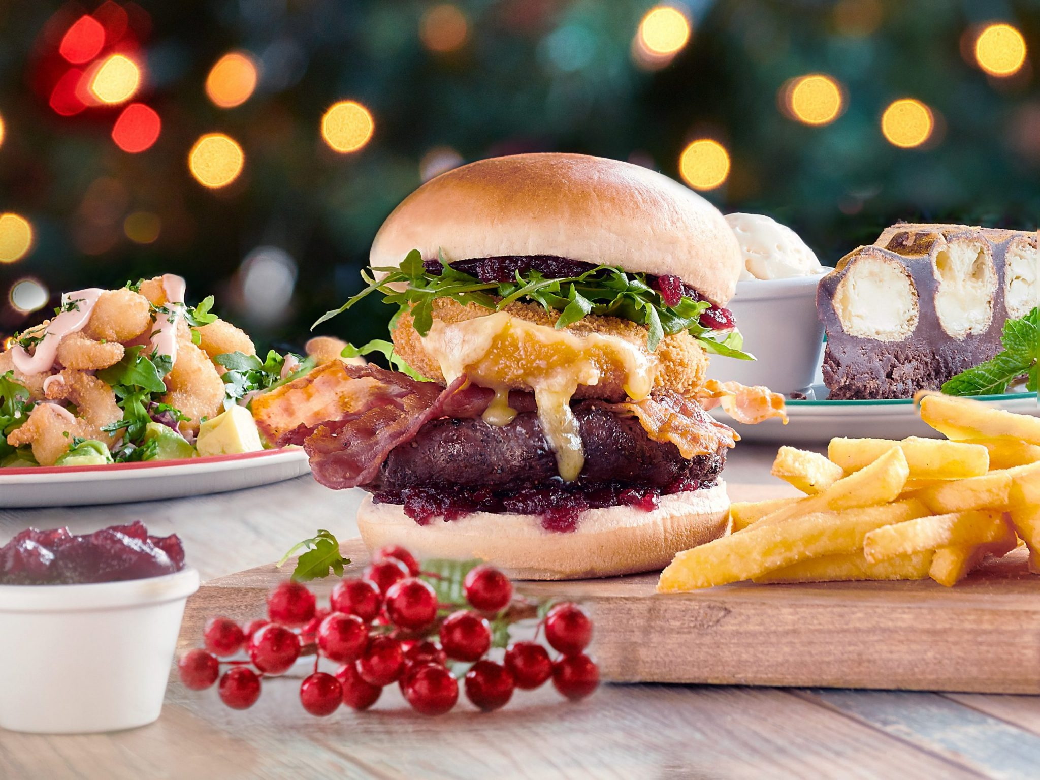 Frankie & Benny's Brie and Cranberry Burger