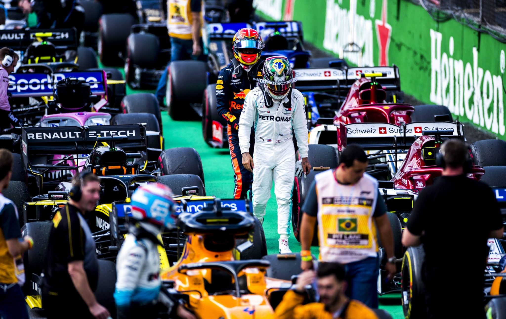 During the Brazilian Formula One Grand Prix at Autodromo Jose Carlos Pace on November 17, 2019 in Sao Paulo, Brazil. (Photograph by Vladimir Rys)