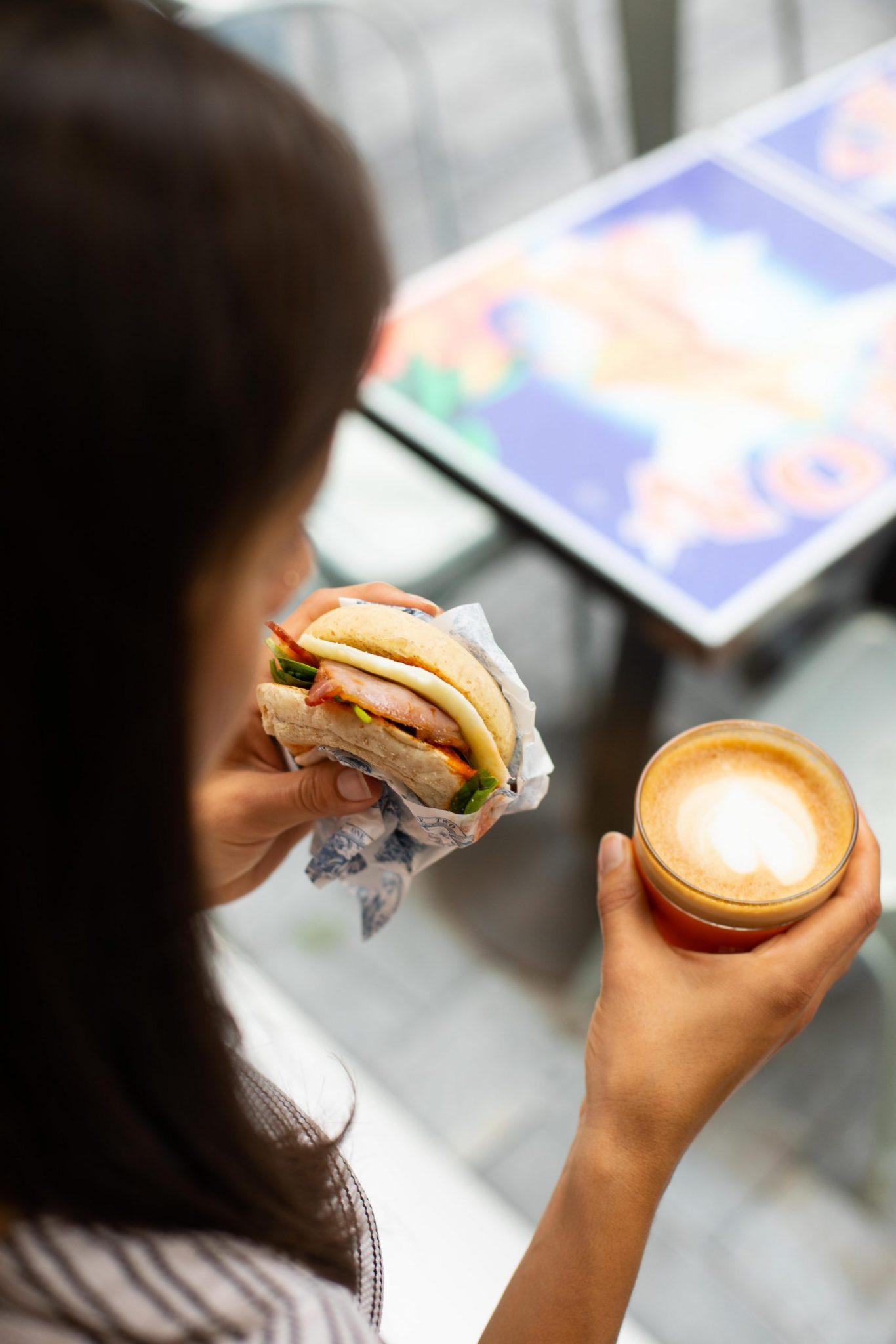 Bacon & Egg Muffin, Coffee (2)