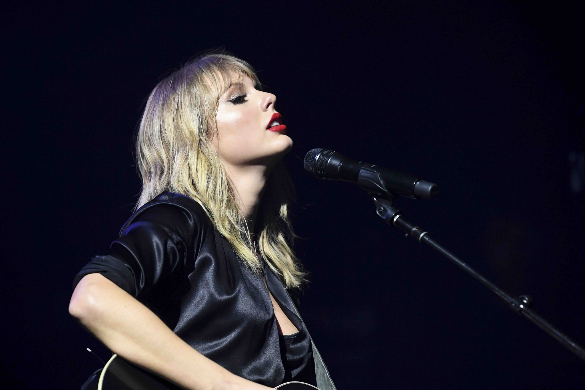 PARIS, FRANCE - SEPTEMBER 09:  Taylor Swift performs during her City of Lover Concert at L'Olympia on September 9, 2019 in Paris, France. (Photo by Dave Hogan for Taylor Swift)