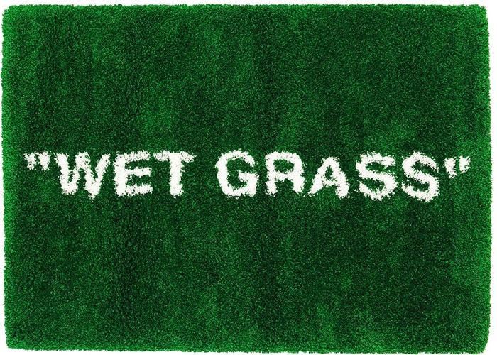Virgil-Abloh-x-IKEA-MARKERAD-WET-GRASS-Rug-Green