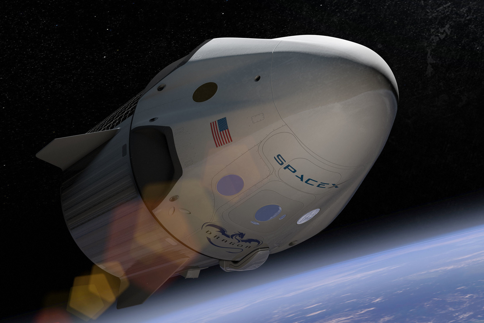 Photo provided by SpaceX and NASA