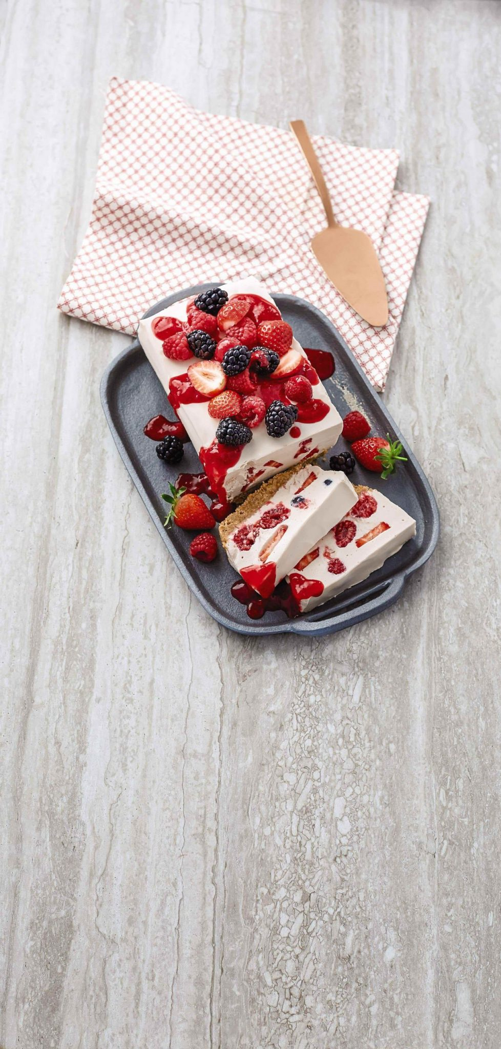 Aldi's Summer Berry Cheesecake