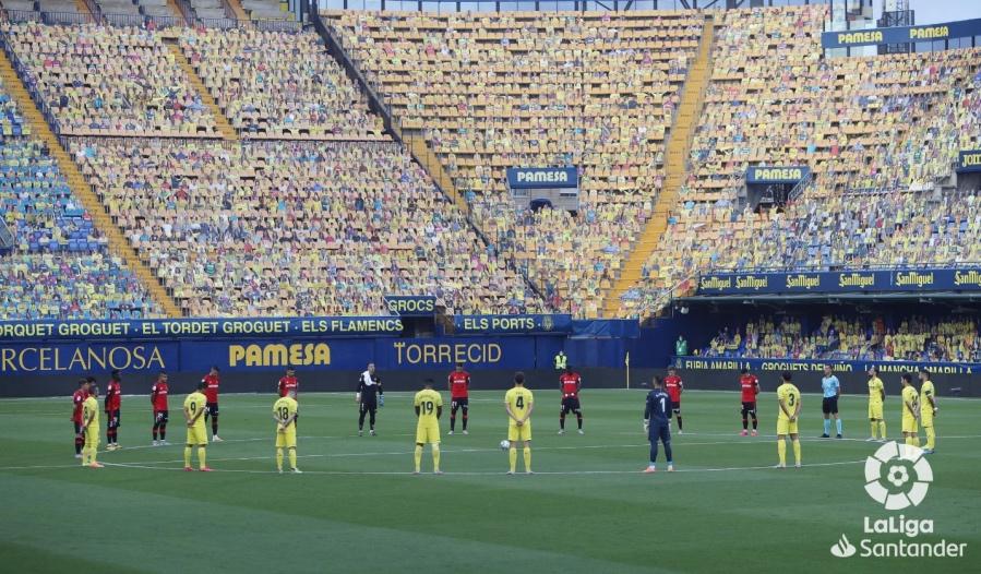 Minute's silence before Villarreal-Mallorca