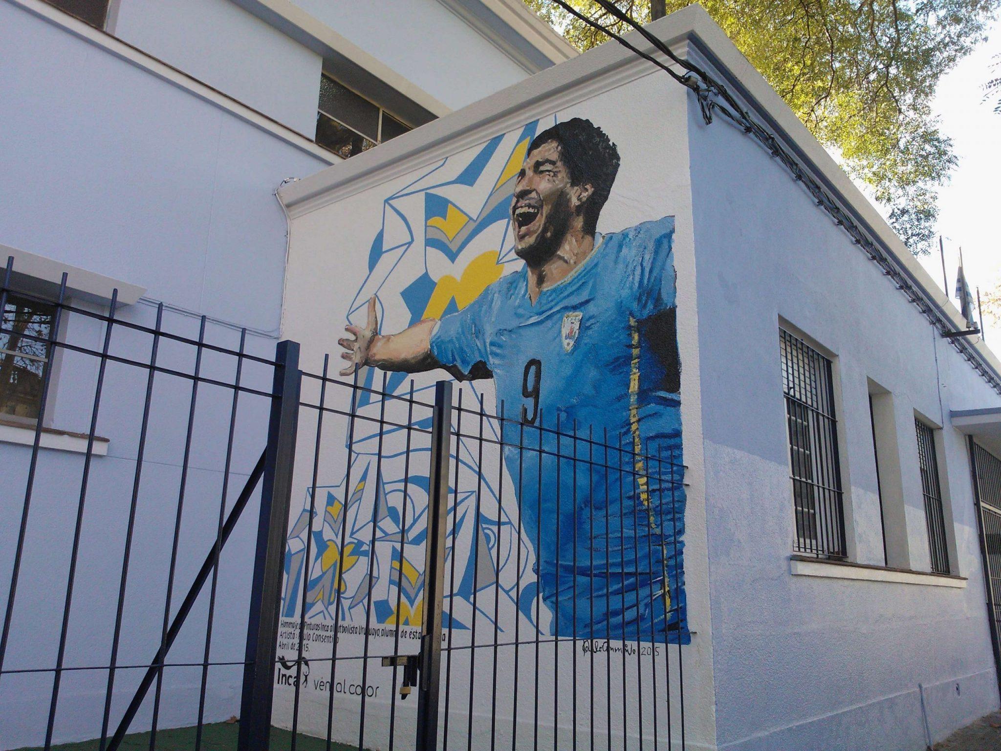 Luis Suarez tribute in Montevideo, Uruguay