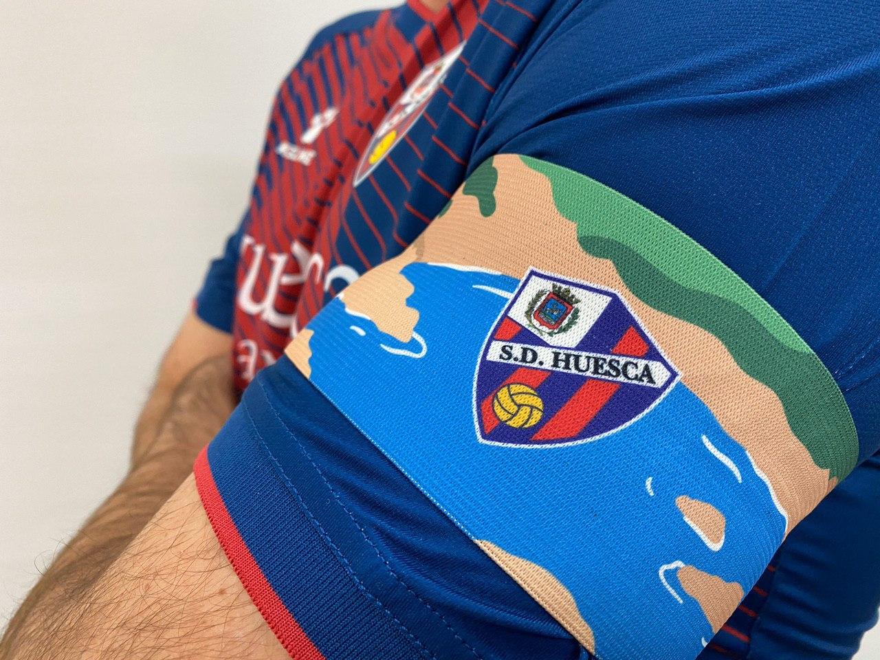 SD Huesca's armband vs Girona FC