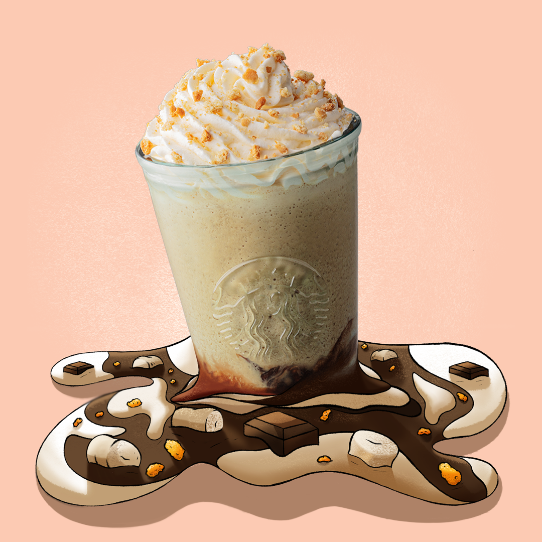Chocolate Marshmallow S'mores Frappuccino Graphic