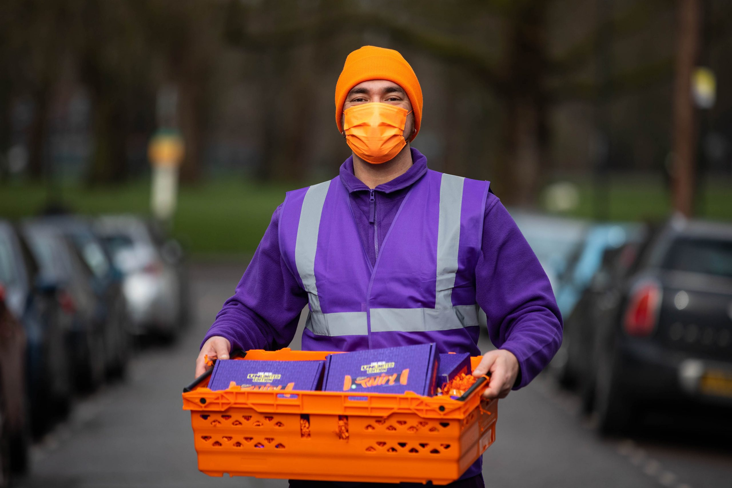 Cadbury Twirl Orange Unlimited Edition deliveries, London. PA Photo. Picture date: Monday February 15, 2021. Photo credit should read: David Parry/PA Wire