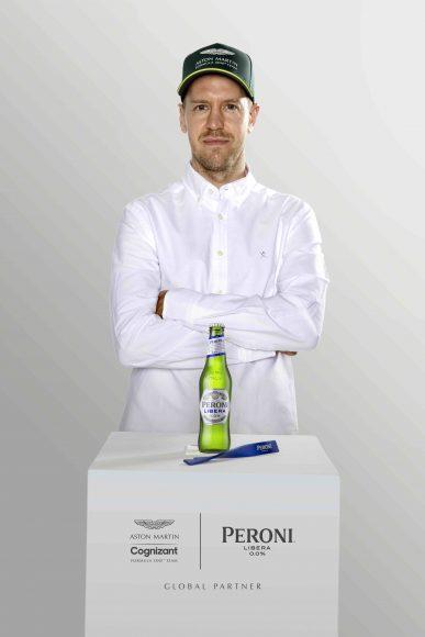Peroni Libera 0.0% x Aston Martin Cognizant F1 -Sebastian Vettel Launch Image