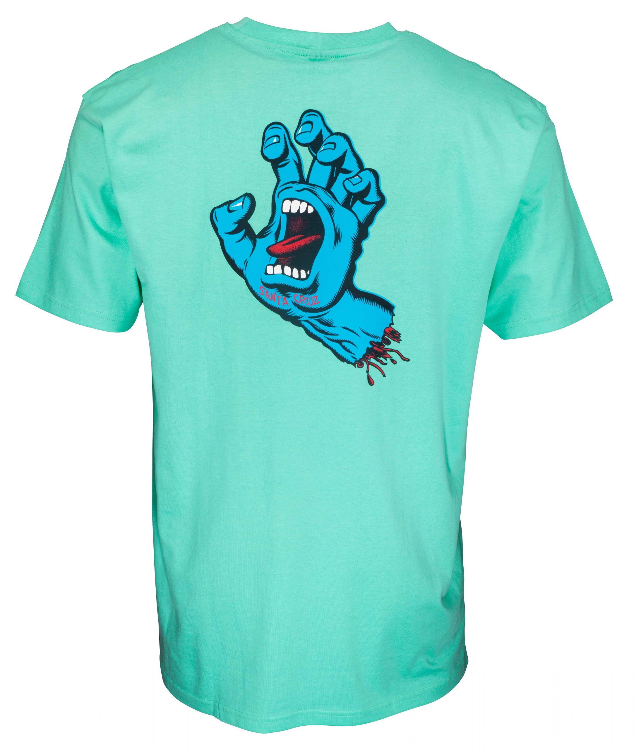 SCA SP21 SS TEE Screaming Hand Chest Jade Green BACK