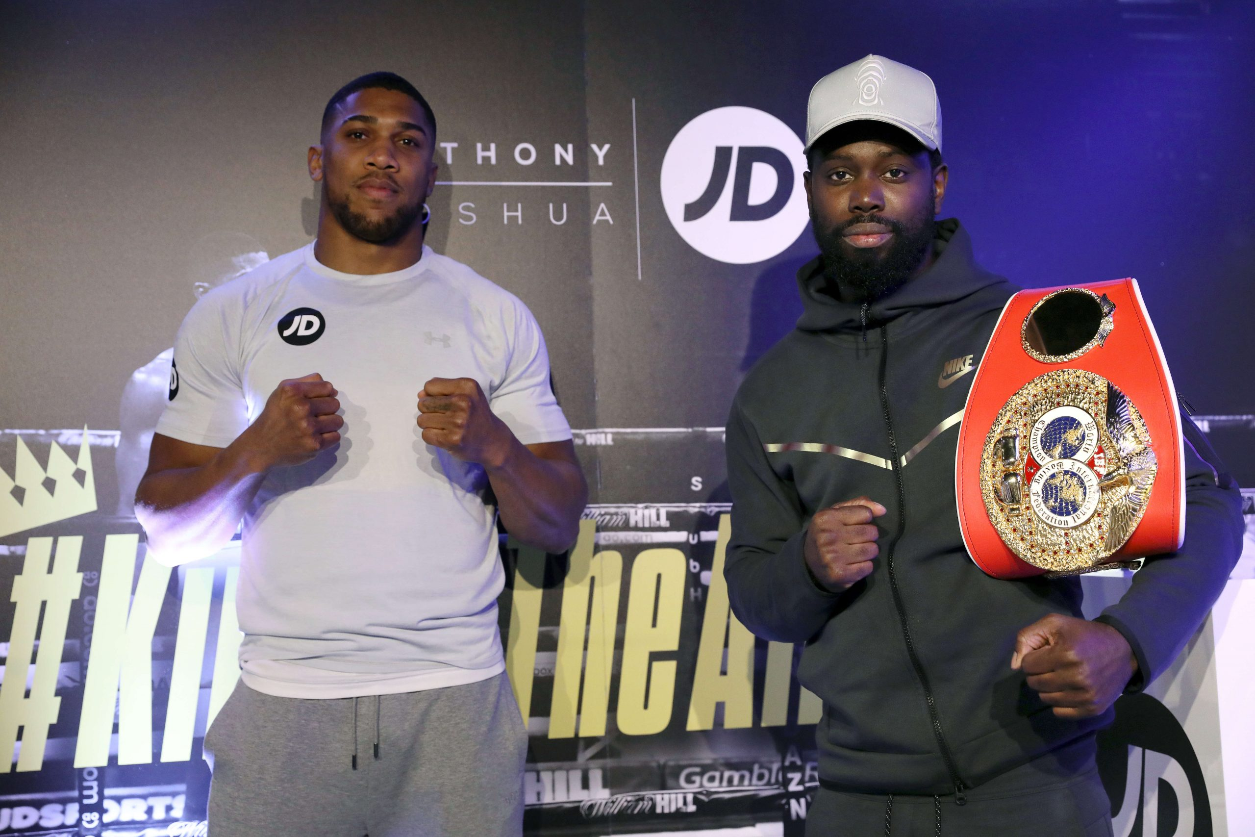 LONDON, ENGLAND - FEBRUARY 28: JD's Anthony Joshua hosts his #KingOfTheAirwaves radio show live on TikTok with a host of special guests including Munya Chawawa, Headie One, Ghetts, Potter Payper and Jeremy Lynch at The Printworks on February 28, 2021 in London, England. (Photo by Tristan Fewings/Getty Images for JD)